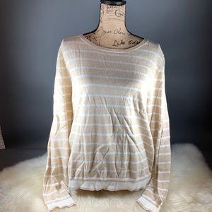 J. Crew Mercantile Striped Cotton Pullover XL